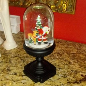 1023 Winter Lane Musical Santa/Reindeer Snowglobe